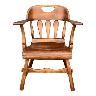 Vintage Sculptural Arm Chair by Sikes Co. Buffalo Ny For Sale