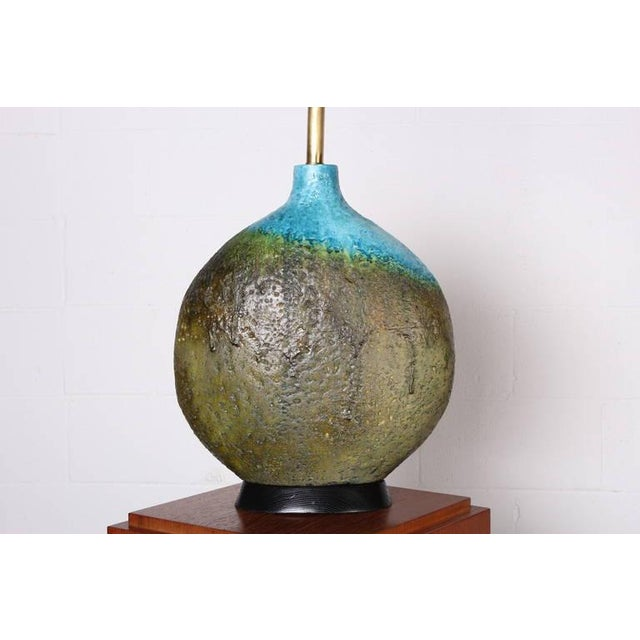 Large Ceramic Lamp by Raymor - Image 6 of 10