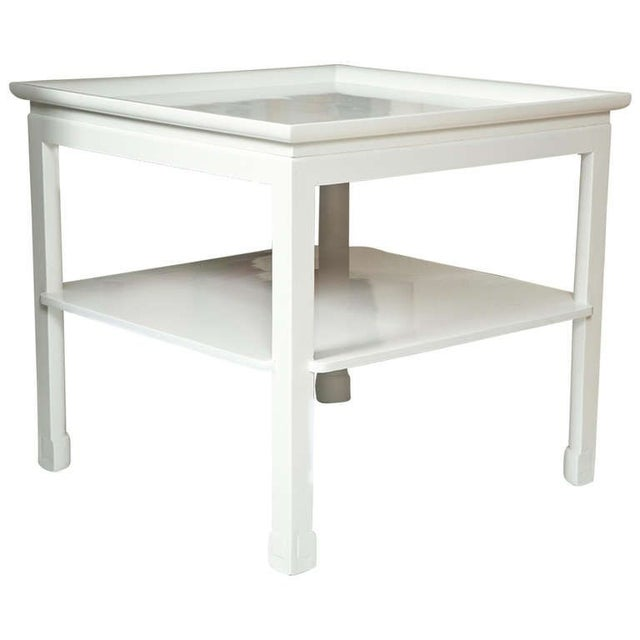 Mid-Century Table in White Lacquer - Image 1 of 7