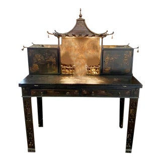 Chinoiserie Pagoda Top Writing Desk For Sale