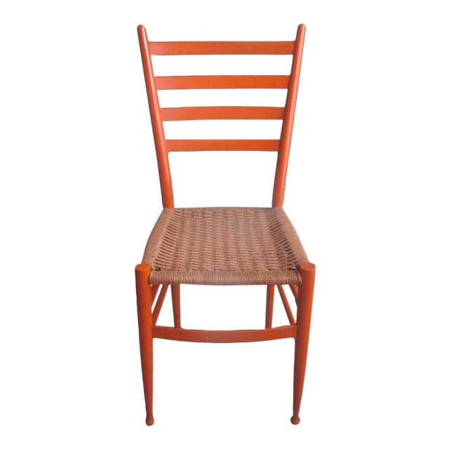 Mid-Century Modern Gio Ponti Style Side Chair For Sale