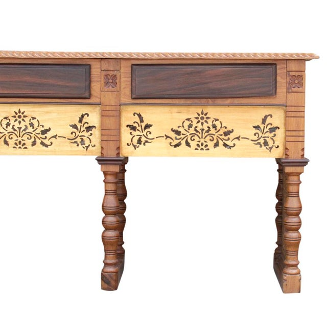 Late 19th Century Anglo Indian Rosewood Carved Console For Sale - Image 5 of 6