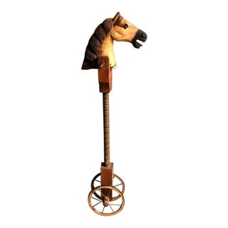 Antique French Rolling Stickhorse For Sale