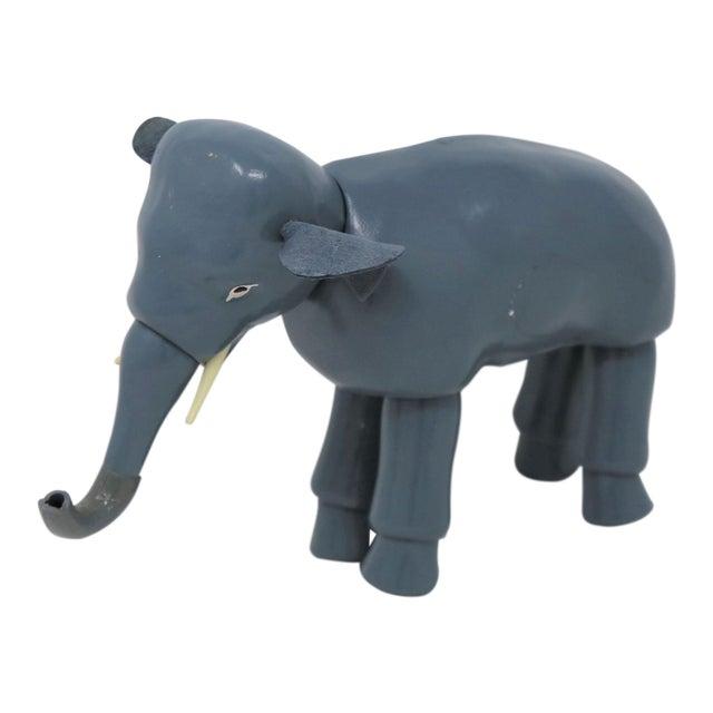 Vintage Blue Elephant Figurine For Sale