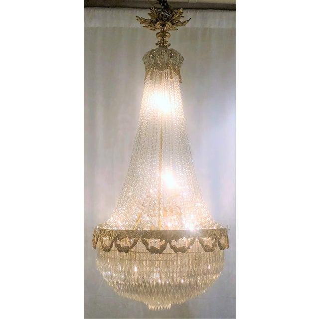 "Belle Epoque Antique French 19th Century ""Belle Epoch"" Baccarat Crystal Chandelier. For Sale - Image 3 of 3"