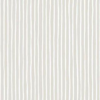 Cole & Son Croquet Stripe Wallpaper Roll - Parchment For Sale