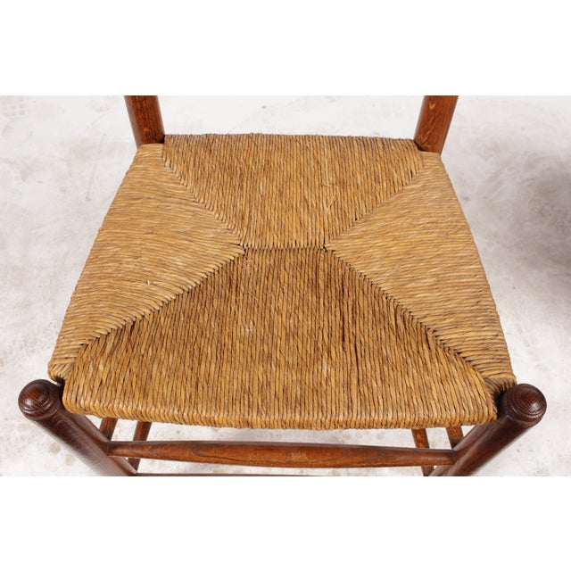 19th-C. English Rush Seat Dining Chairs - S/4 - Image 6 of 8