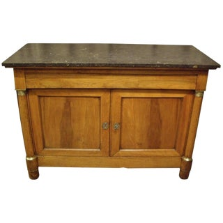 French Provincial Empire Walnut Buffet For Sale