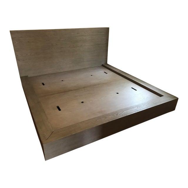 Van Thiels for Restoration Hardware Oak King Machinto Bed For Sale