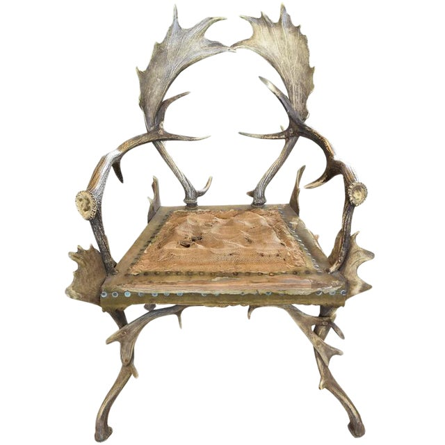 Antler Chair from a Bavarian Hunting Lodge - Image 1 of 2