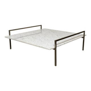 Modern Carrera Marble Coffee Table For Sale