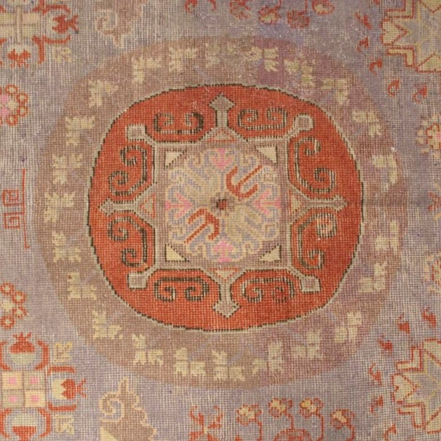 Early 20th Century Central Asian Khotan Carpet - 8' x 16' For Sale - Image 4 of 6