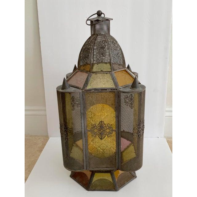 Vintage Moroccan Lantern Candle Holder For Sale - Image 12 of 12
