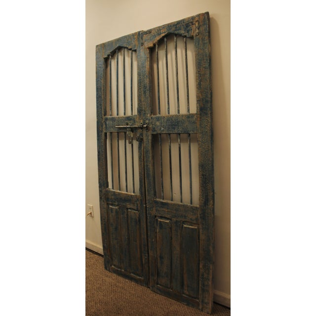 Reclaimed Architectural Wrought Iron Doors - A Pair - Image 4 of 11