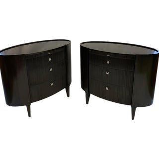 Side Tables by Axis Furniture Black Wood - A Pair For Sale