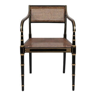 Early 19th Century Vintage English Regency Armchair For Sale