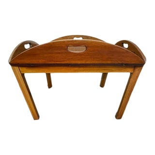 Late 19th Century English Mahogany Butler's Tray on Stand For Sale
