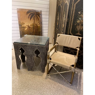 Moorish Drexel Heritage Upholstery Wrapped Side Table Preview