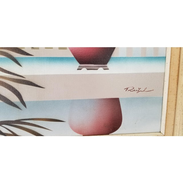 Canvas 80s Reibel Postmodern Still Life Painting For Sale - Image 7 of 13