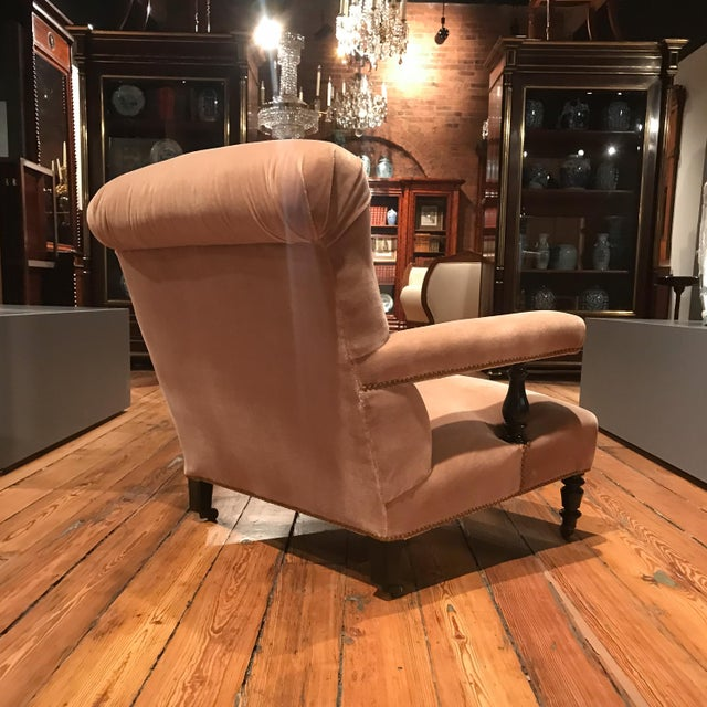 Wood 19th Century French Mohair Upholstery Armchairs- a Pair For Sale - Image 7 of 10