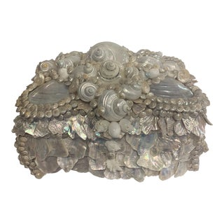 Artist Made Shell Encrusted Box For Sale