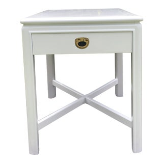 Freshly Lacquered Drexel Accolade Campaign Side Table For Sale