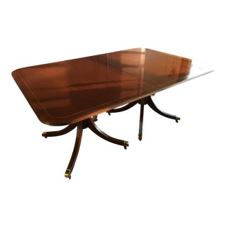 Traditional Baker Furniture Co. Mahogany Dining Room Table