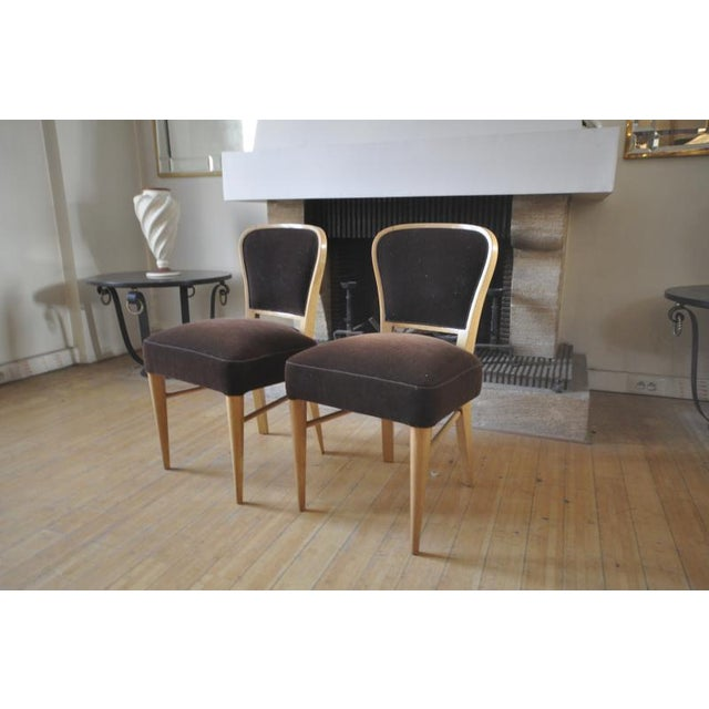 """1950s Jean Royere Documented Pair of Chairs Model """"Restaurant Drouant"""" For Sale - Image 5 of 9"""
