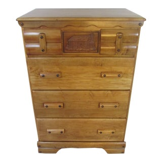 1930s Rustic Maple Chest of Drawers