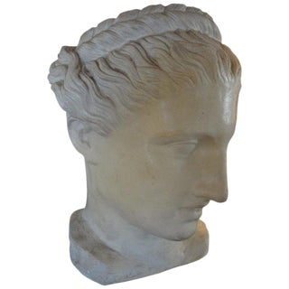 1920s Antique French Neoclassical Style Plaster Bust For Sale