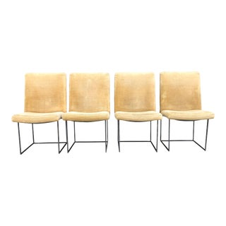 Four Milo Baughman for Thayer Coggin Thin Bronze Dining Chairs - Set of 4 For Sale