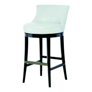 Century Furniture Dutton Swivel Bar Stool, Papyrus Leather For Sale