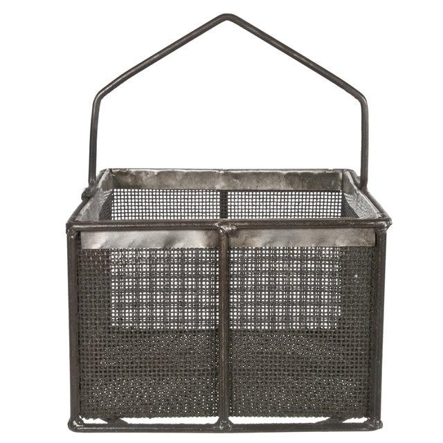 Metal Mesh Basket With Handle - Image 1 of 3