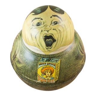 Opera Singing Waiter Roly Poly Tin For Sale