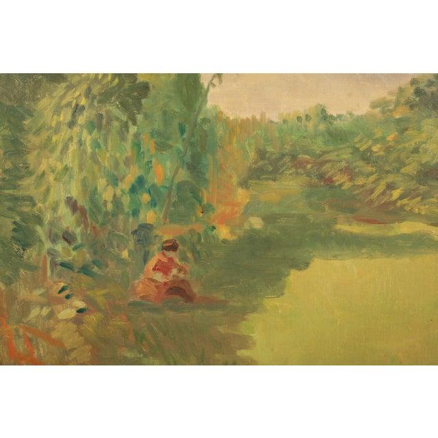 Impressionism 1953 Hjalmar Kragh-Pedersen Expressionist Pastoral Landscape For Sale - Image 3 of 6