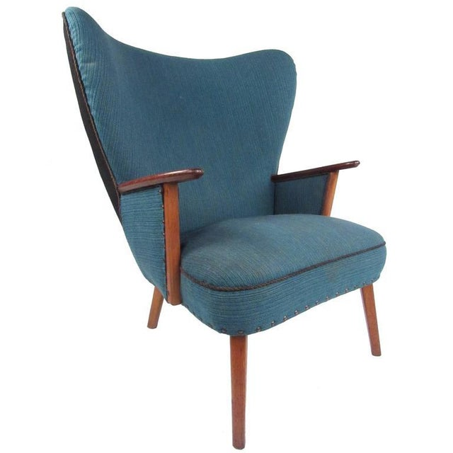 Madsen and Schubel Madsen & Schübel Pragh Wingback Lounge Chair For Sale - Image 4 of 9