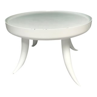 Jonathan Adler Lacquer Tusk White Coffee Cocktail Table For Sale