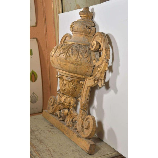 Large 18th Century Louis XVI Carved Urn For Sale - Image 9 of 9