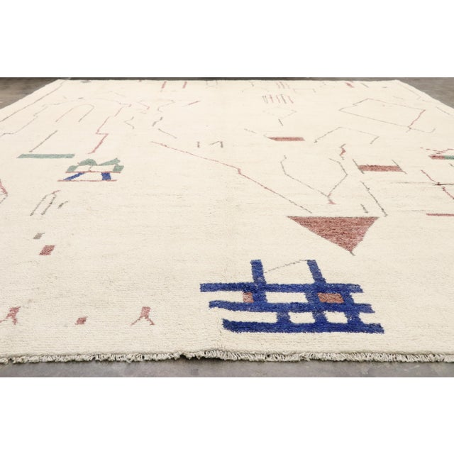 Textile Contemporary Moroccan Rug After Harry Bertoia - 12′ × 15′8″ For Sale - Image 7 of 10