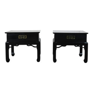 1970s Asian Style End Tables - a Pair For Sale