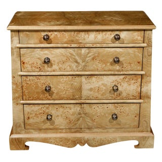 English Traditional Paul Marra Mappa Veneer Chest - Pair