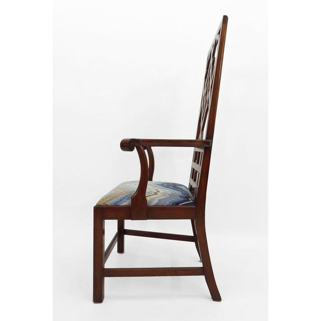 Chippendale High-back Diamond Fret Chair For Sale - Image 3 of 7