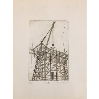 "Howard Koslow Original Etching Titled ""Gantry"" For Sale"