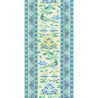 Sample, Scalamandre Royal Peony Linen Print, Coastal Fabric For Sale