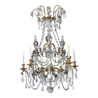 Rock Crystal Chandelier, 18th Century