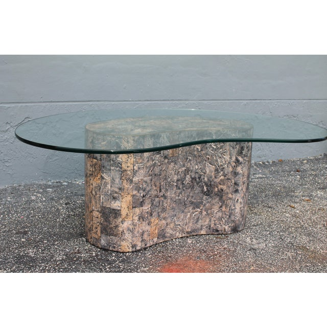 Mid-Century Kidney Shaped Tessellated Stone Coffee Table - Image 5 of 10