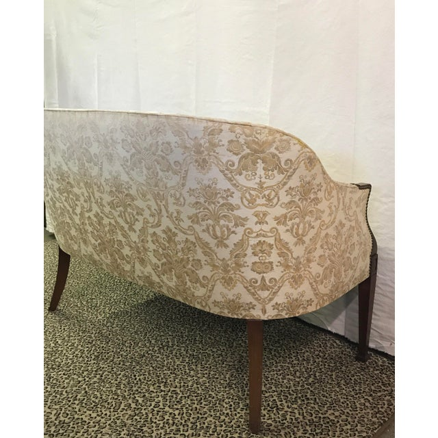 Vintage Neoclassical Settee With Nailhead Detail - Image 10 of 11