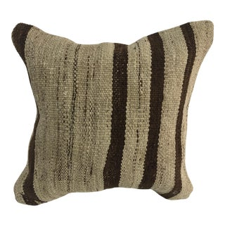 Turkish Stripe Design Anatolian Kilim Pillow For Sale