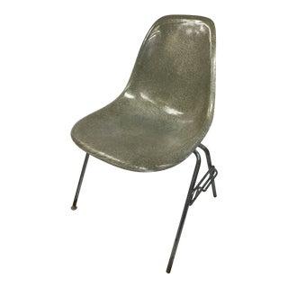 1950s Vintage Herman Miller Zenith Seafoam Green Eames Fiberglass Shell Chair For Sale