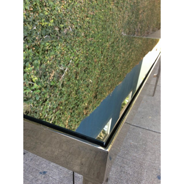 Barbara Barry Mirrored Chrome Coffee Table For Sale - Image 10 of 10